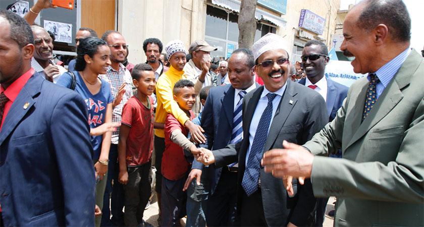 Somalia's President Mohammed Abdullahi Mohammed visit Eritrea