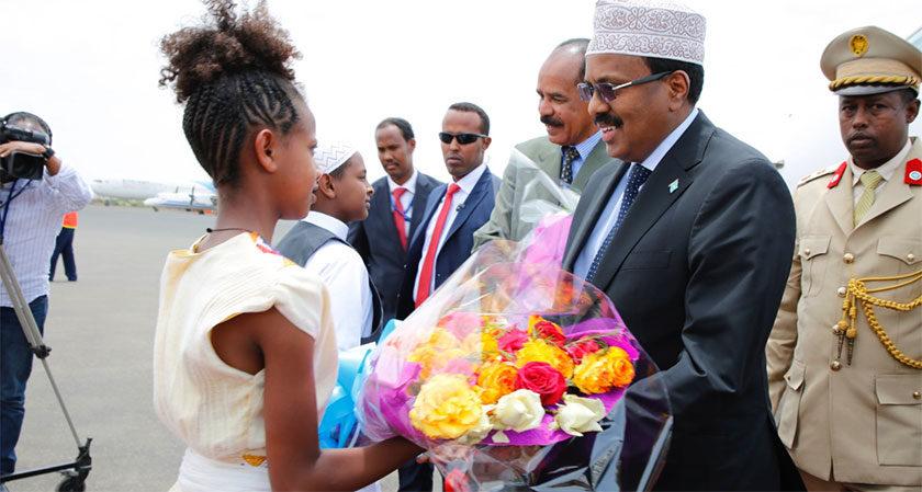 Somalia President in Eritrea for Landmark Visit