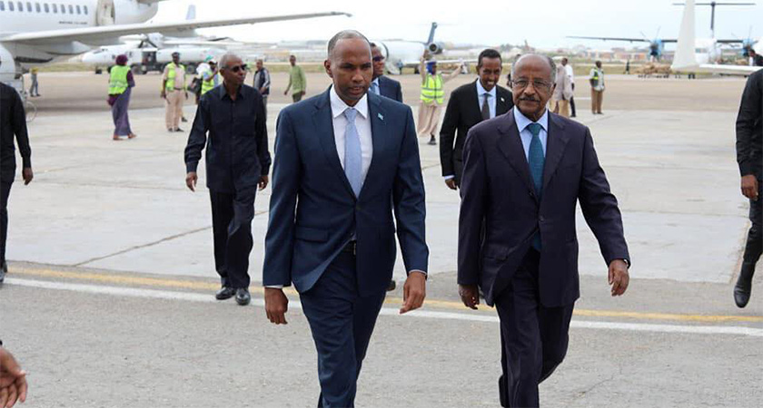 Eritrean delegation visiting Somalia
