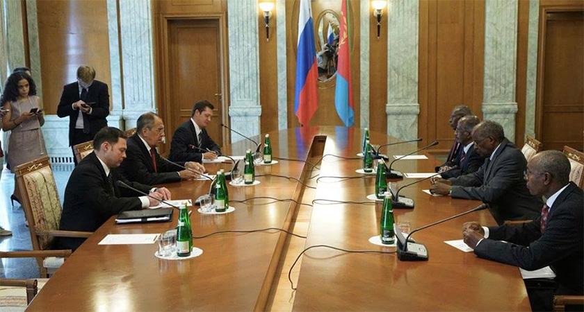 Senior Eritrean delegation led by FM Osman visiting Russia