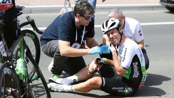 Mark Cavendish suffered a number of crashes