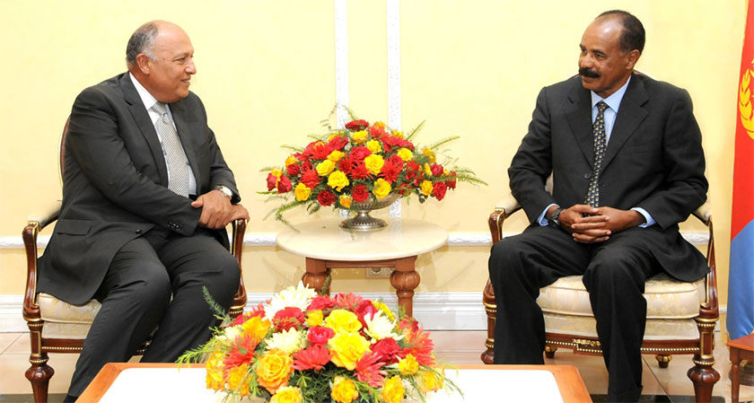 President Isaias Meets Egypt FM Shoukry