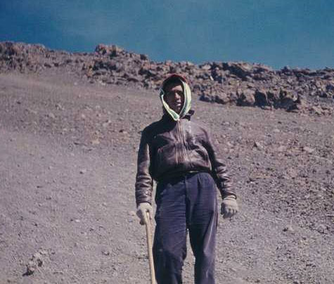 Mr. Naizghi on Mt. Kilimanjaro at the age of 25 in 1959
