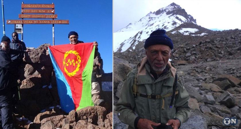 Dr. Naigzy Gebremedhin climbs Mt Kenya Kilimanjaro for the 13th times at the age of 84