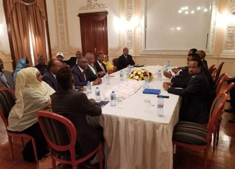 Peace negotiation between the Ethiopian government representatives and ONLF leaders in Asmara, Eritrea.