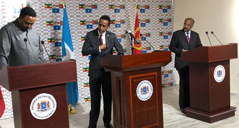 Foreign Ministers of Eritrea and Ethiopia Reaffirm Support for Somalia