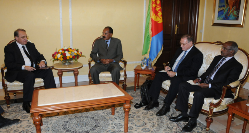 Senior Russian Diplomat, Eritrea President Discuss Lifting of UN Sanctions