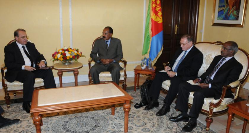 Senior Russian Diplomat, Eritrea President Discuss Lifting of UN Sanctions