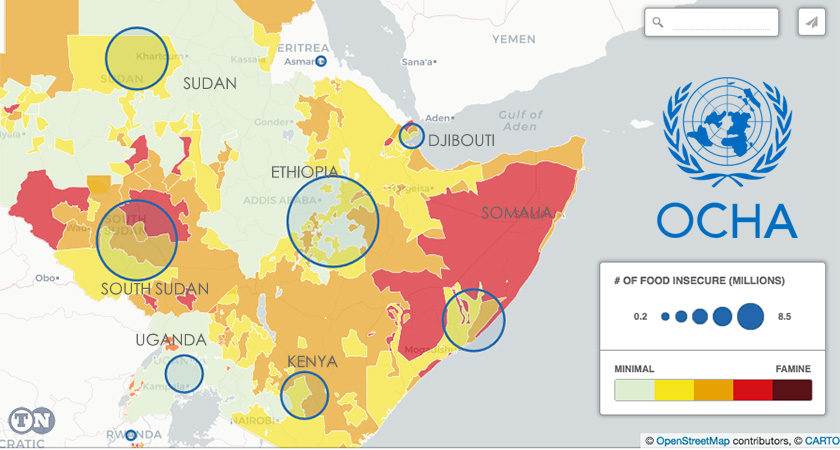 UN Says 22.4 million People in the Horn of Africa Severely Food Insecure