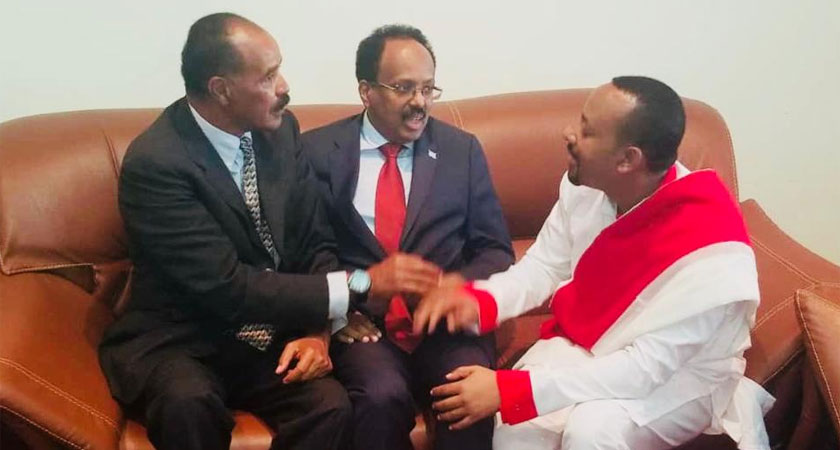 President Isaias, President Farmajo and PM Abih Ahmed meet in Ethiopian city of Gonder for second tripartite summit
