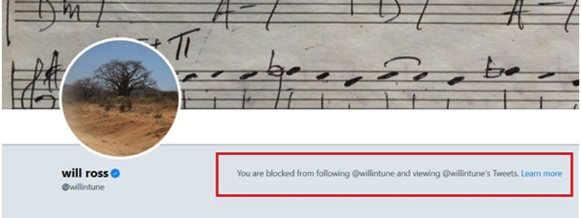 You are blocked from following @willintune