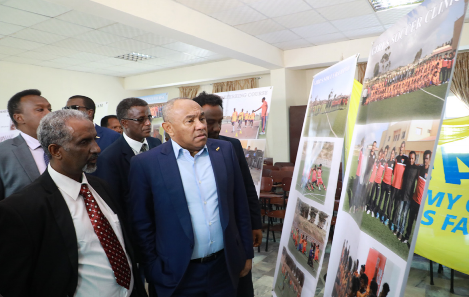 CAF and football federations from neighboring countries visit Eritrea