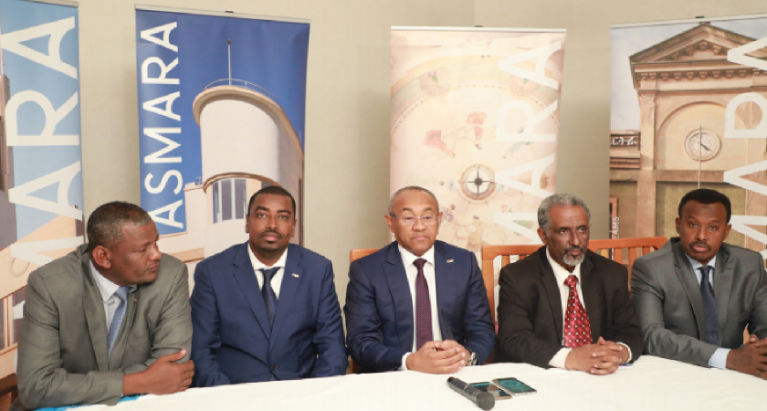 CAF President accompanied football federations officials from Ethiopia, Somalia, and Djibouti paid a visit to Eritrea