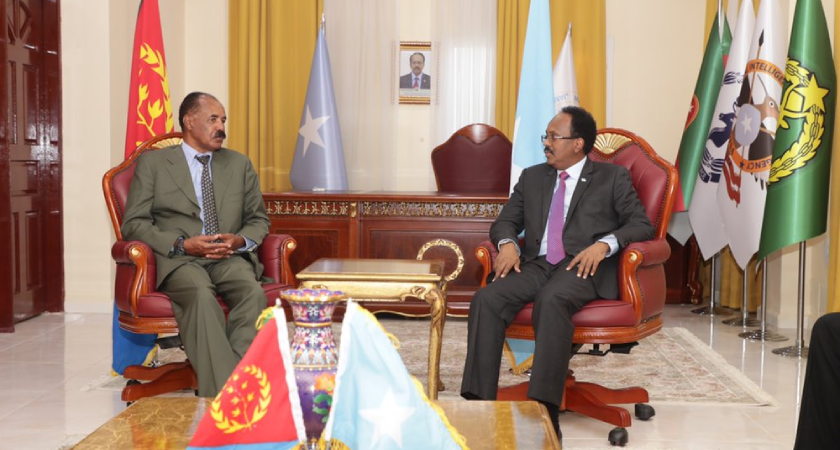 President Isaias and President Farmaajo held talks in Mogadishu
