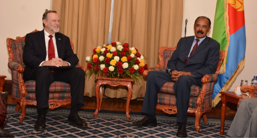 President Isaias Afwerki received US Assistant Secretary for Africa, Tibor Nagy meet