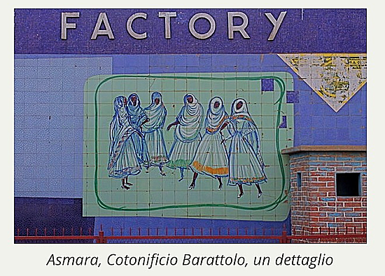 Ms. Nenne Sanguineti's painting outside Dolce Vita (formerly Barattole) textile factory