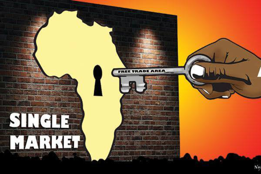 The African Continental Free Trade Area (AfCFTA) is a planned free trade area