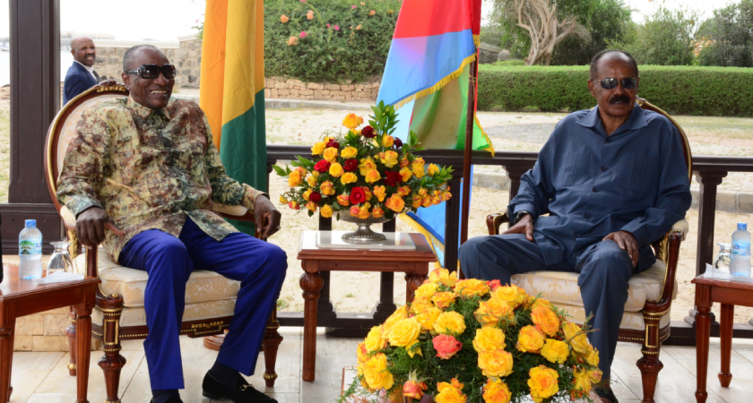 Republic of Guinea President Visits Eritrea