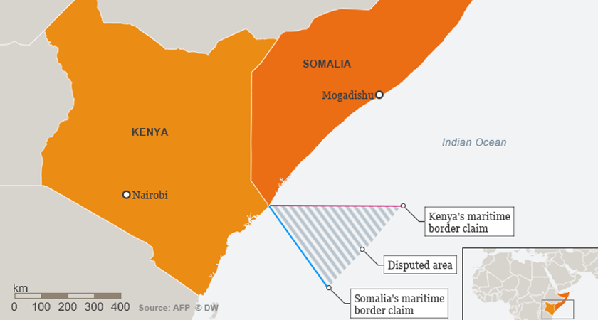 Kenya and Somalia diplomatic tensions over disputer maritime territory