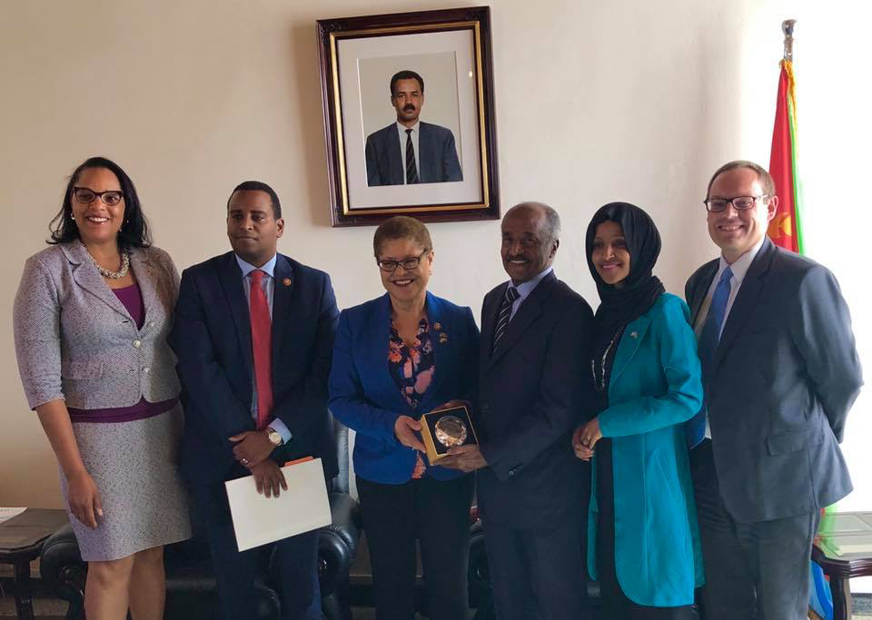 A U.S. congressional delegation has visited Eritrea for the first time in 14 years as Washington seeks closer
