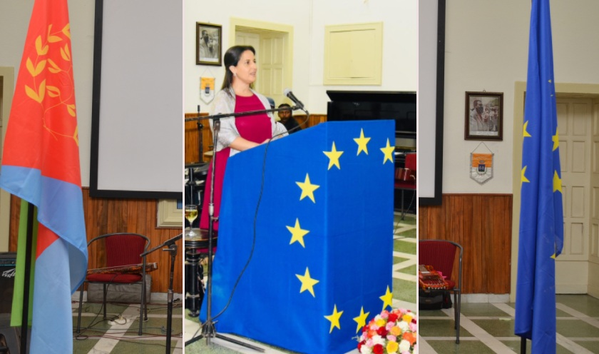 Dr. Nicole Miller, Chargé d'Affaires and Acting Head of the EU Delegation, delivered a speech on the occasion of this year's Europe Day celebration in Asmara.