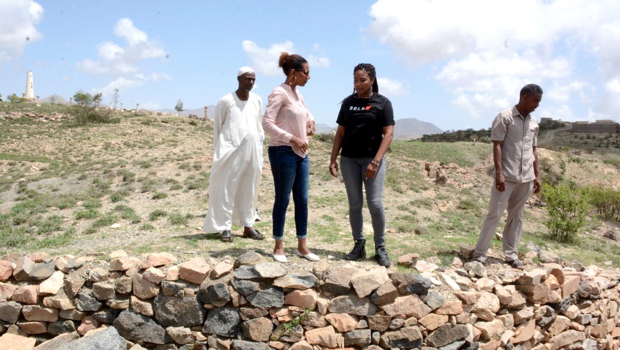Tiffany Haddish visiting EPLF trenches at Nakfa