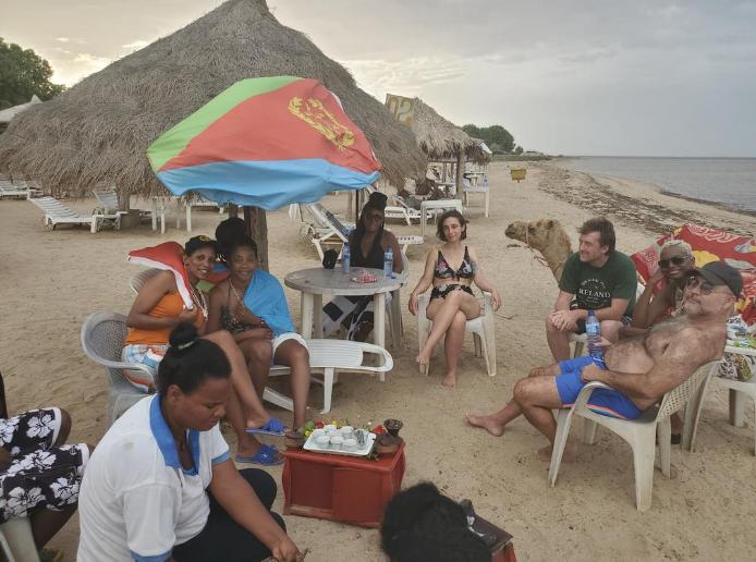 Tiffany Haddish camping at Island