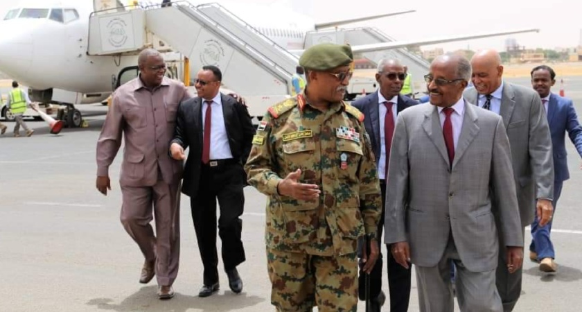 Senior Eritrean Delegation Holds Talks with Sudan's TMC Chairman