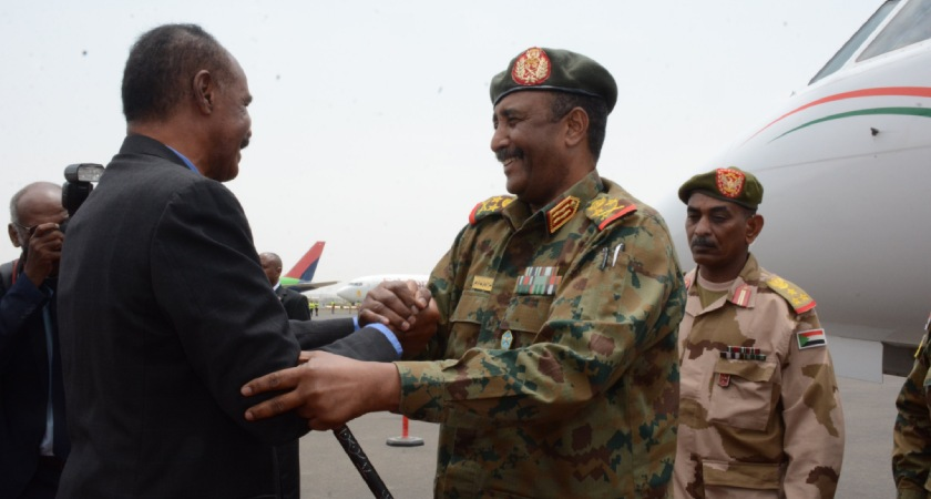 Chairman of Sudan's Transitional Military Council Visits Eritrea
