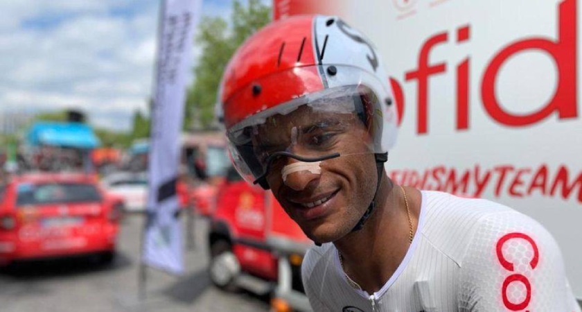 Natnael Berhane of Eritrea is the only black African rider in the 2019 edition of the Tour de France.
