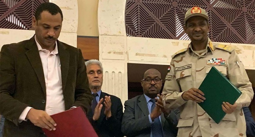Sudan Military, Protest Leaders Sign Political Deal