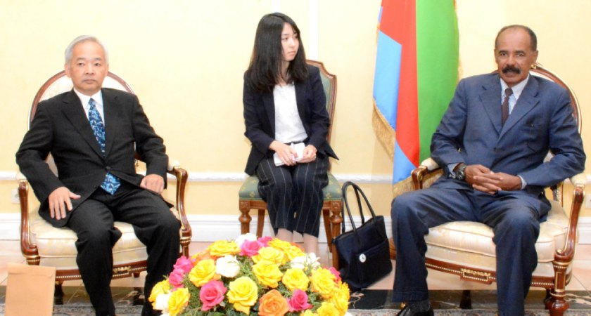 Japanese Delegation Held talks with President Isaias