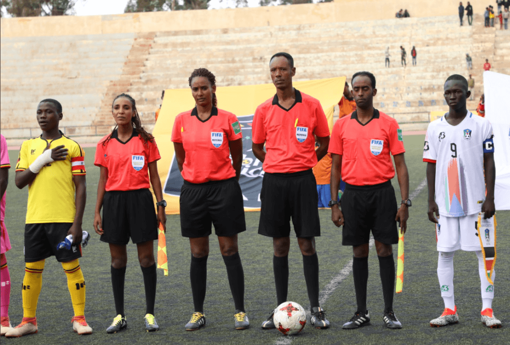 Elsa Yohannes become the first female in CECAFA history to officiate a tournament as second assistant referee