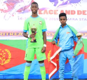 Kenya's Lwangu Alvin took home the award for best goalkeeper; Eritrean Temesghen Tesfai best player of the tournament .