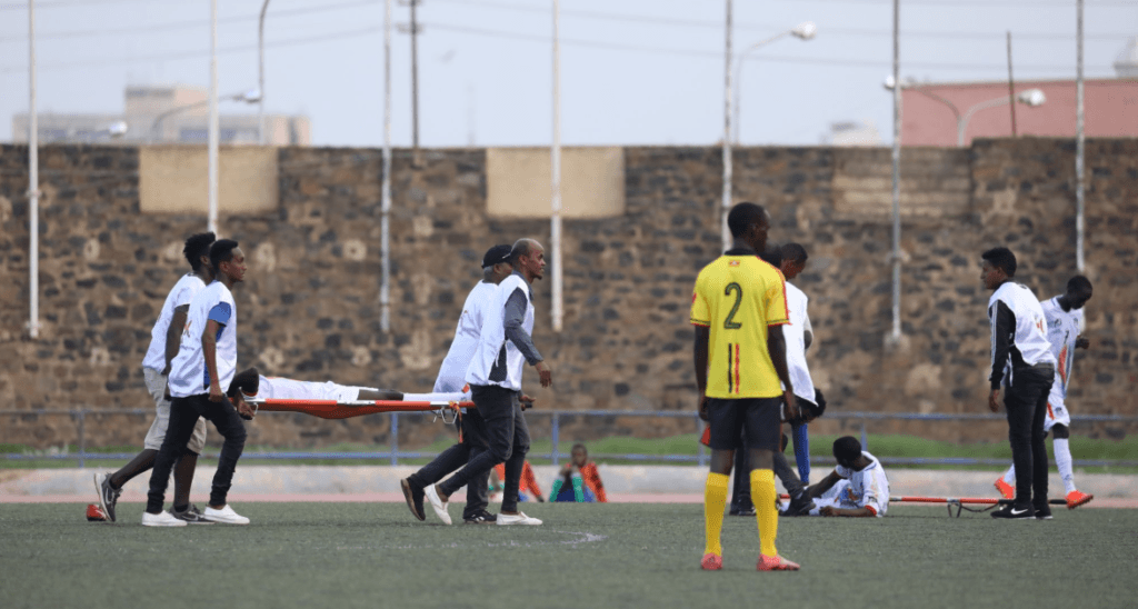 South Sudan vs Uganda match abandoned due to injury