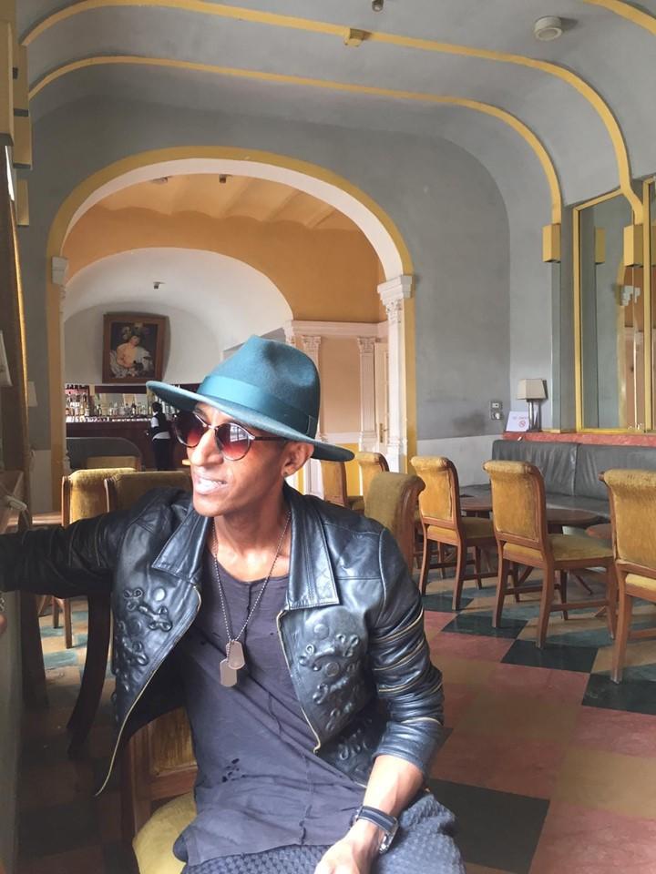 "Looking out of one Asmara's beautiful hotel ""Hotel Keren"""