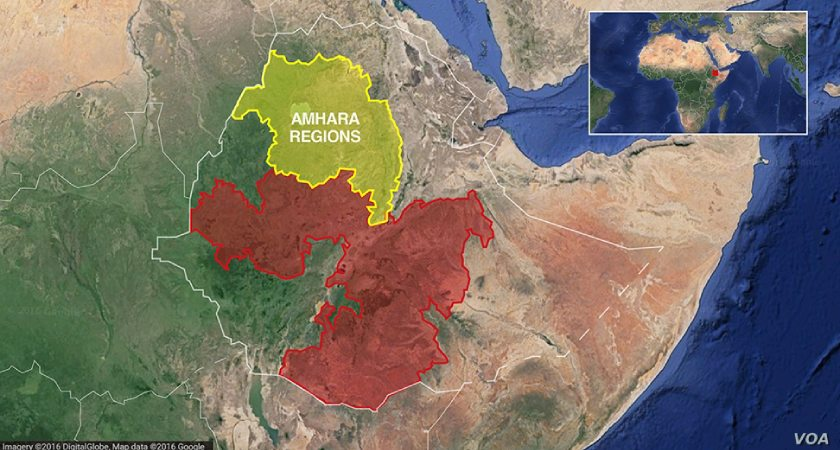 Clashes between Amhara regional special forces and a minority Qimant ethnic group have resulted in the death of at least 22 people.