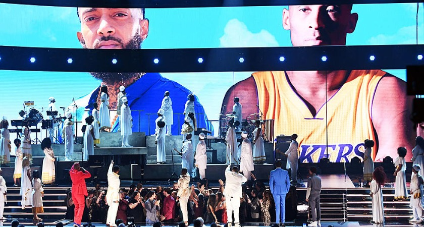 Basketball legend Kobe Bryant was also remembered at the Grammy Award ceremony