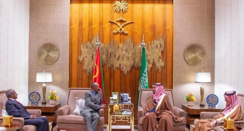 Saudi Crown Prince Receives President of Eritrea