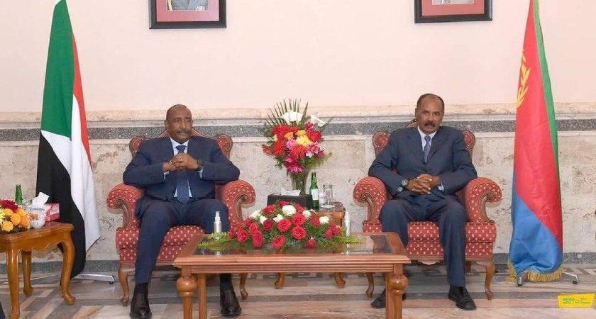 President Isaias, Gen. Al-Burhan Met in Asmara