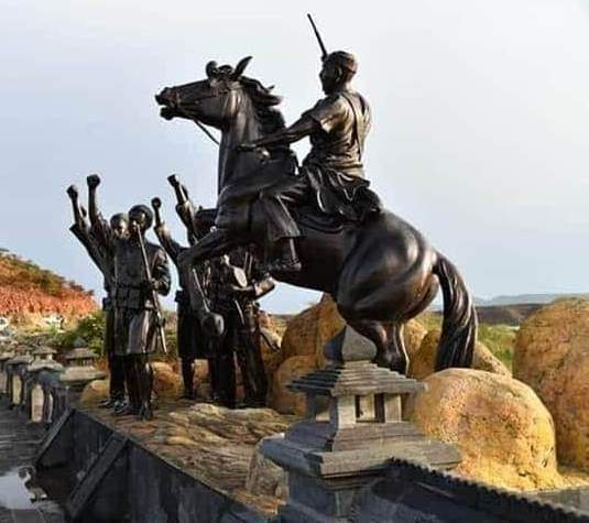 A statue of Hamid Idris Awate