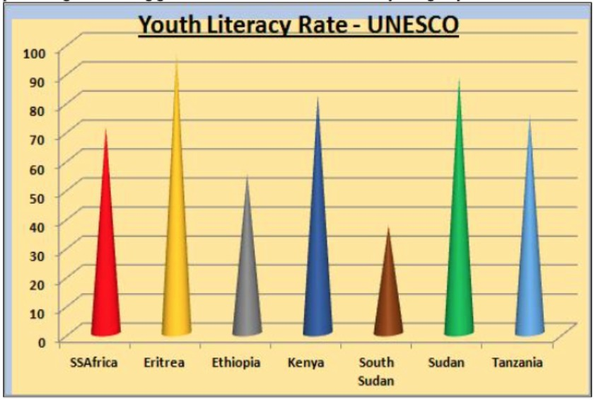 Eritrea has had one of the largest increases in youth literacy anywhere in the world